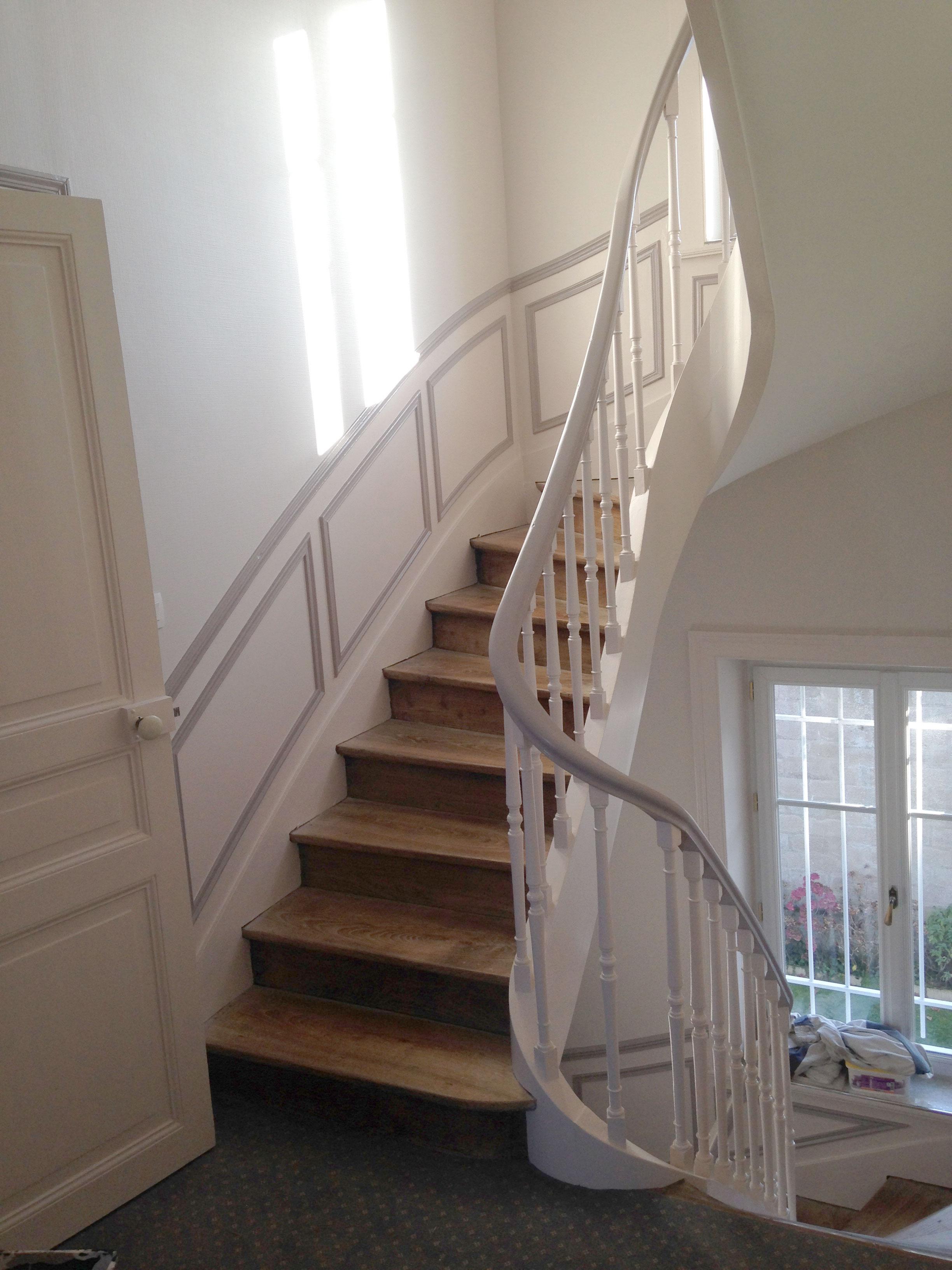 Papier Peint Mur Escalier. R Novation Cage D Escalier Parties ...